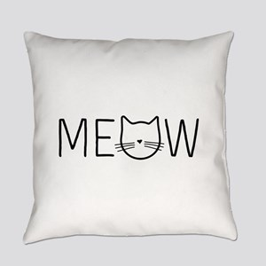Meow cat face Everyday Pillow