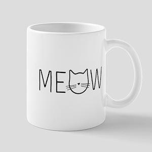 Meow cat face Mugs