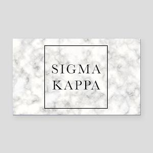 Sigma Kappa Marble Rectangle Car Magnet
