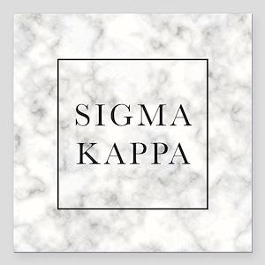 "Sigma Kappa Marble Square Car Magnet 3"" x 3"""