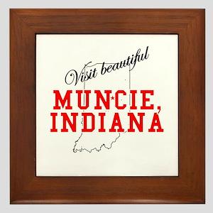 Visit Beautiful Muncie, India Framed Tile