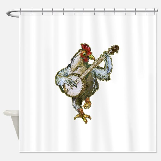 Cute Rooster Shower Curtain