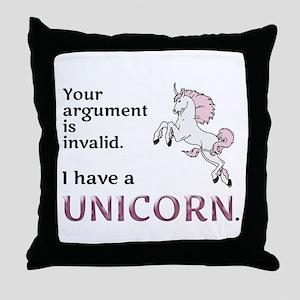 Unicorn Argument Throw Pillow