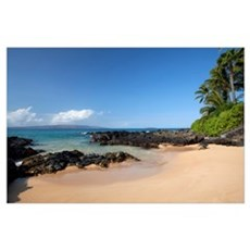 Hawaii, Maui, Makena Beach, A coastal view of the  Poster