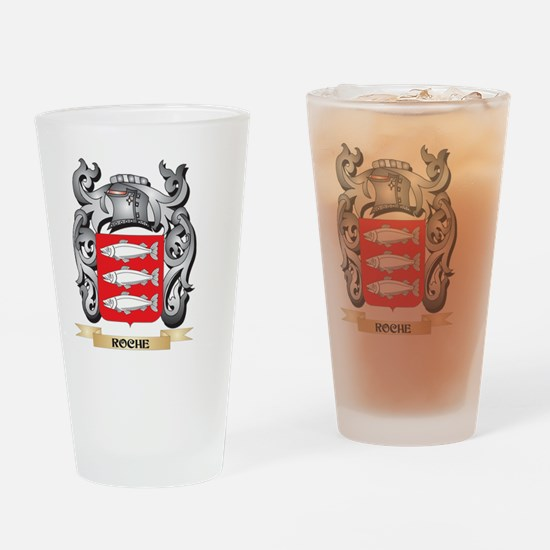 Roche Coat of Arms - Family Crest Drinking Glass