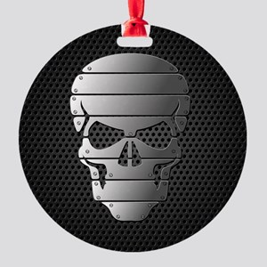 Chrome Skull Ornament