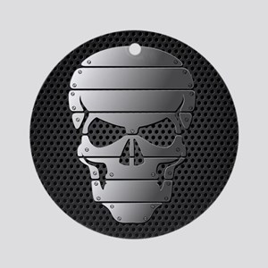 Chrome Skull Ornament (Round)