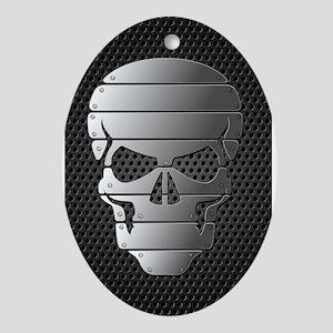 Chrome Skull Ornament (Oval)