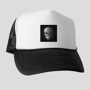 Chrome Skull Trucker Hat
