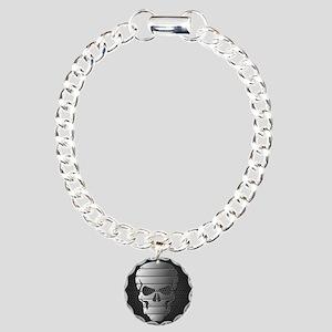 Chrome Skull Bracelet