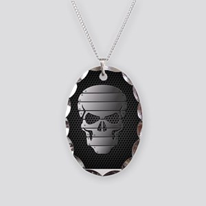 Chrome Skull Necklace