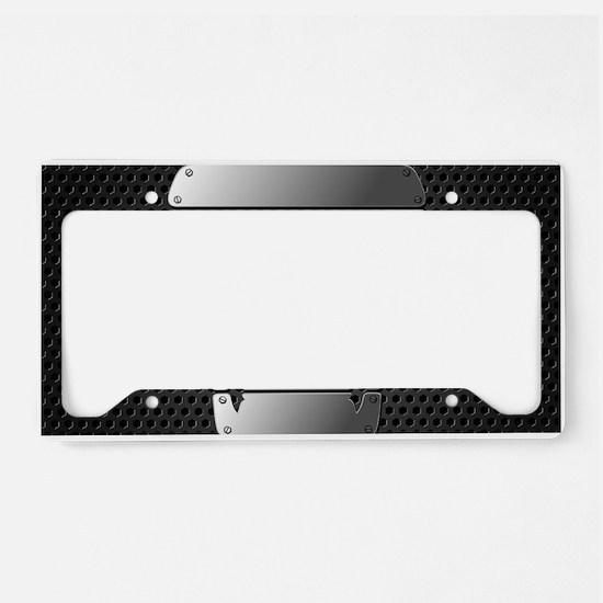 Chrome Skull License Plate Holder