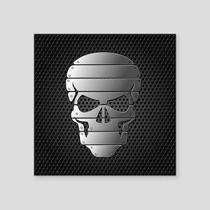 Chrome Skull Sticker