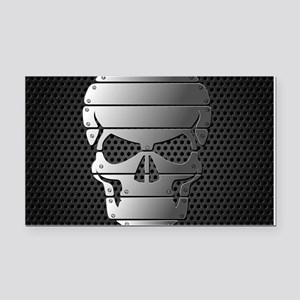 Chrome Skull Rectangle Car Magnet