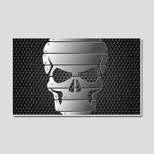 Chrome Skull Car Magnet 20 x 12