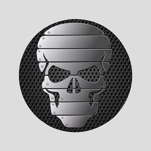 "Chrome Skull 3.5"" Button"