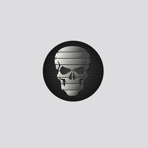 Chrome Skull Mini Button