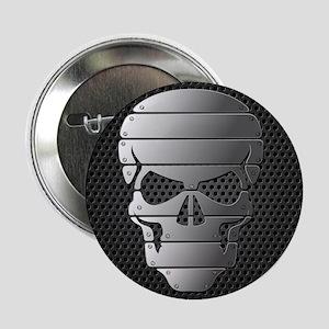 """Chrome Skull 2.25"""" Button (10 pack)"""