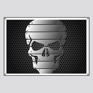 Chrome Skull Banner