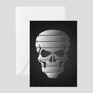 Chrome Skull Greeting Cards