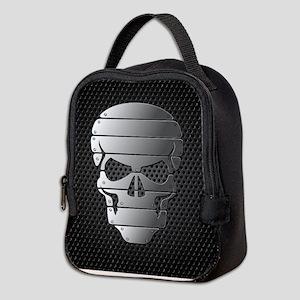 Chrome Skull Neoprene Lunch Bag