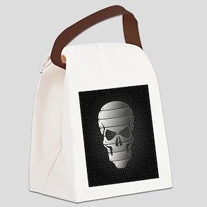 Chrome Skull Canvas Lunch Bag