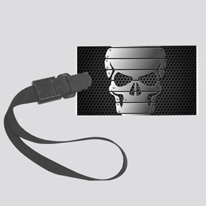 Chrome Skull Luggage Tag