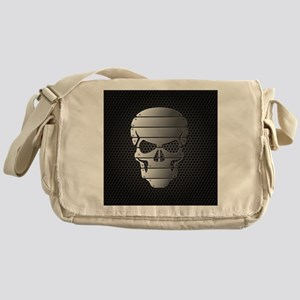 Chrome Skull Messenger Bag