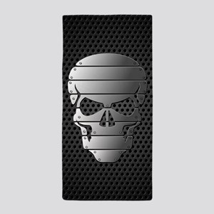 Chrome Skull Beach Towel
