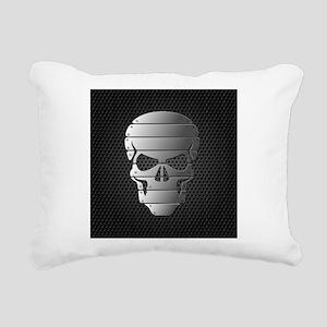 Chrome Skull Rectangular Canvas Pillow