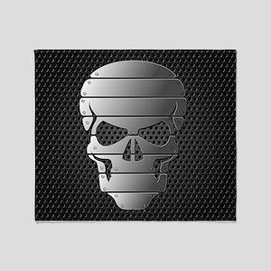 Chrome Skull Throw Blanket