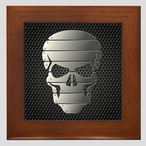 Chrome Skull Framed Tile