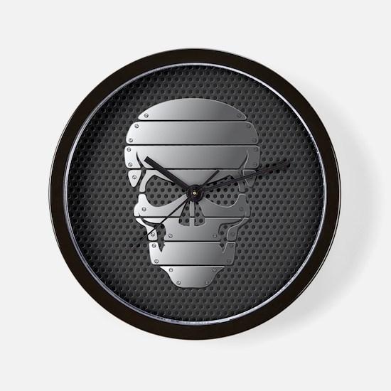 Chrome Skull Wall Clock
