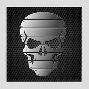 Chrome Skull Tile Coaster
