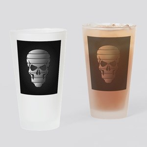 Chrome Skull Drinking Glass
