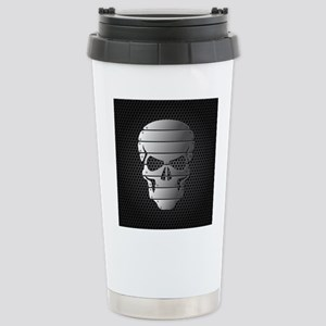 Chrome Skull Travel Mug