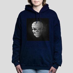 Chrome Skull Women's Hooded Sweatshirt
