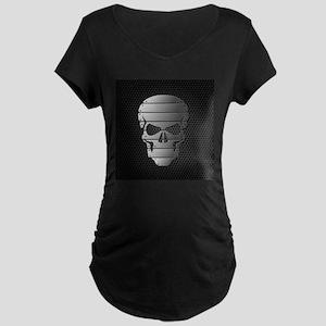 Chrome Skull Maternity T-Shirt