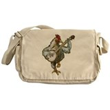Chicken with banjo Canvas Messenger Bags