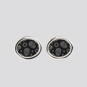 Sugar Skulls Oval Cufflinks