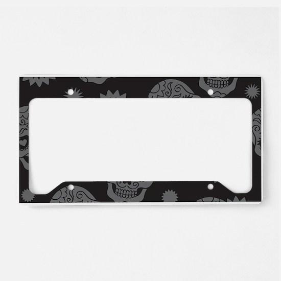 Sugar Skulls License Plate Holder