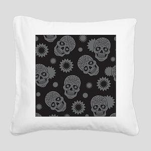 Sugar Skulls Square Canvas Pillow
