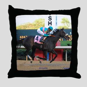 Horse Racing Throw Pillow
