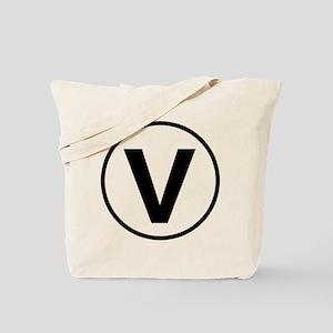 """""""V"""" for VEGAN Tote Bag"""
