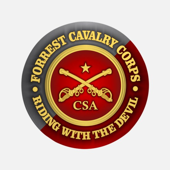"""CSC-Forrest Cavalry 3.5"""" Button"""