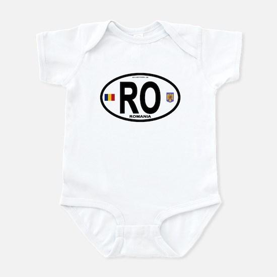 Romania Intl Oval Infant Bodysuit