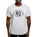 Romania Intl Oval Light T-Shirt