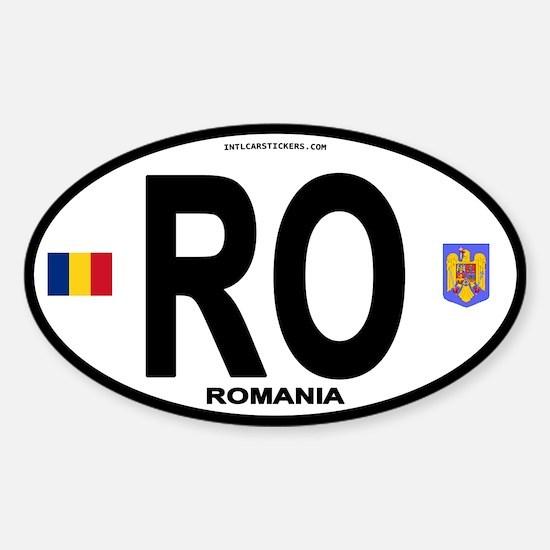 Romania Intl Oval Oval Decal
