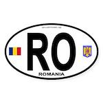 Romania Intl Oval Oval Sticker