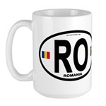 Romania Intl Oval Large Mug